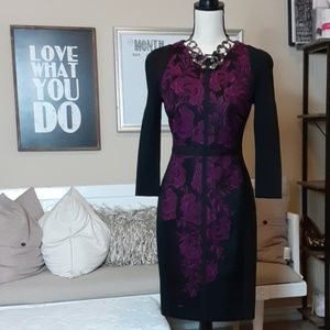 Ted Baker Black and Purple Sheath Dress  (2)